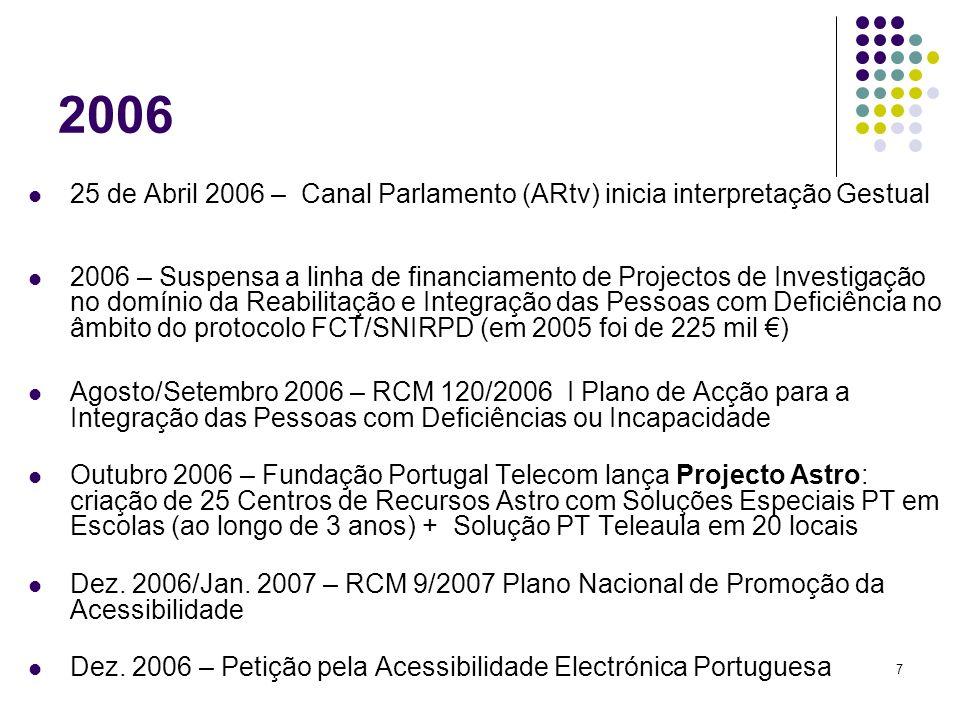 18 Comunicações Electrónicas Grupo-UMTS Compromissos em 2007: Começar do Zero !!.
