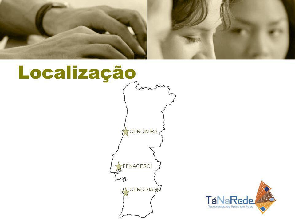 Localização CERCIMIRA CERCISIAGO FENACERCI