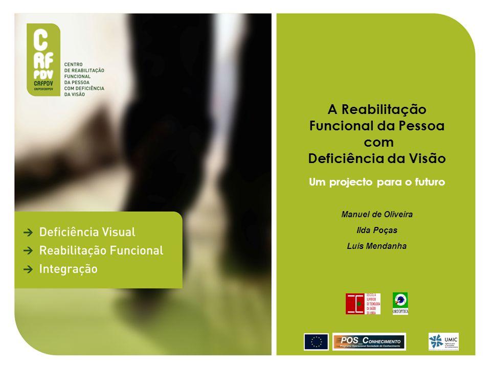 Um projecto para o futuro Conclusão Em Portugal assiste-se a uma grande dispersão de prestações em matéria de deficiência visual por diferentes instituições, em muitas circunstâncias, sem qualquer relacionamento entre si, o que dificulta o desenvolvimento de sinergias que sejam facilitadoras do processo de inclusão do sujeito deficiente visual.