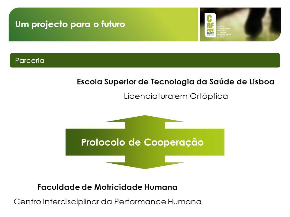 Um projecto para o futuro Parceria Escola Superior de Tecnologia da Saúde de Lisboa Licenciatura em Ortóptica Faculdade de Motricidade Humana Centro I