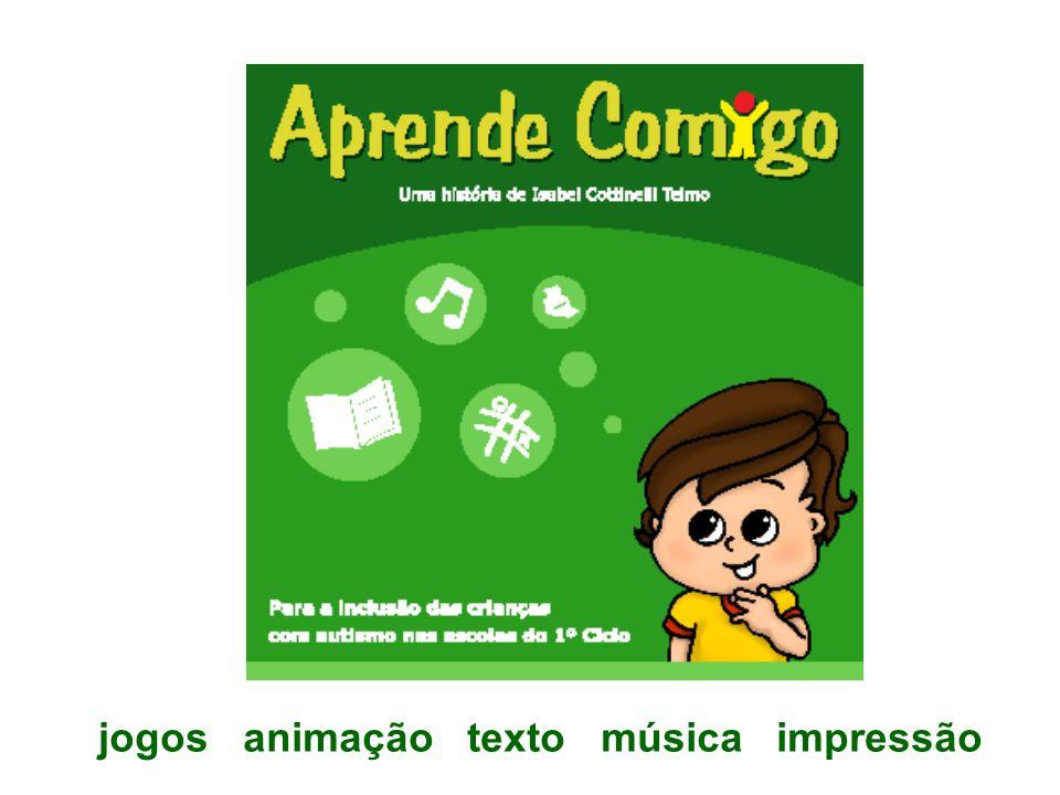 jogos animação texto música impressão
