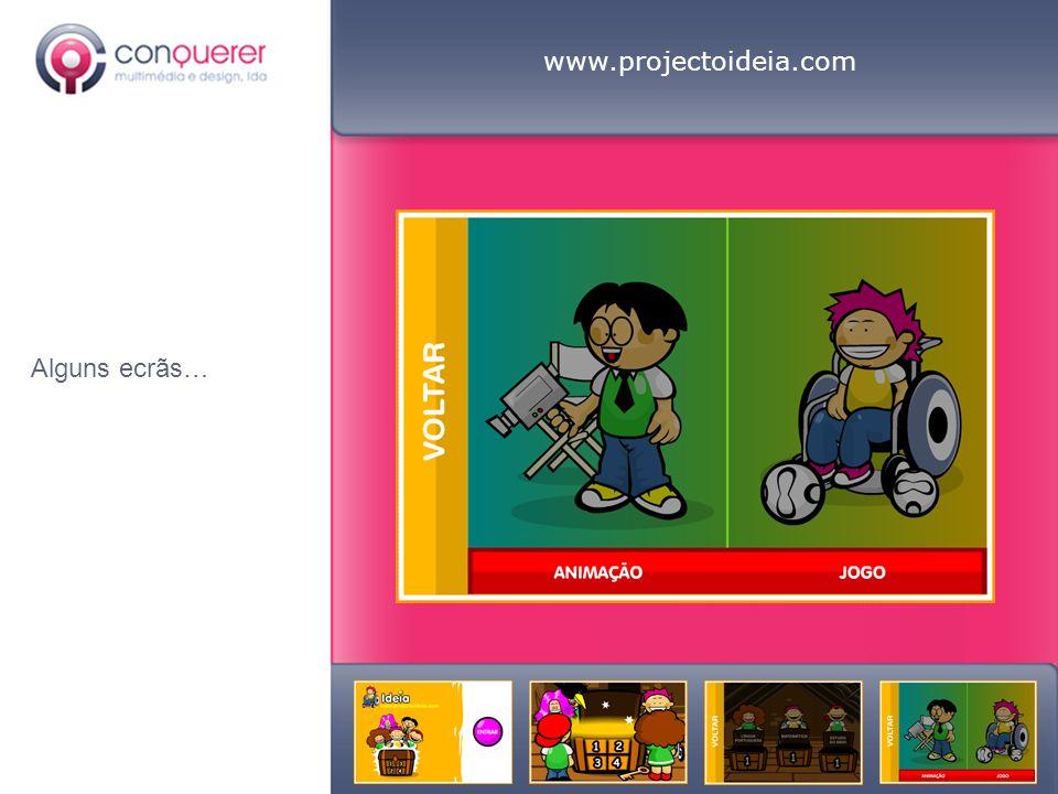 www.projectoideia.com Alguns ecrãs…