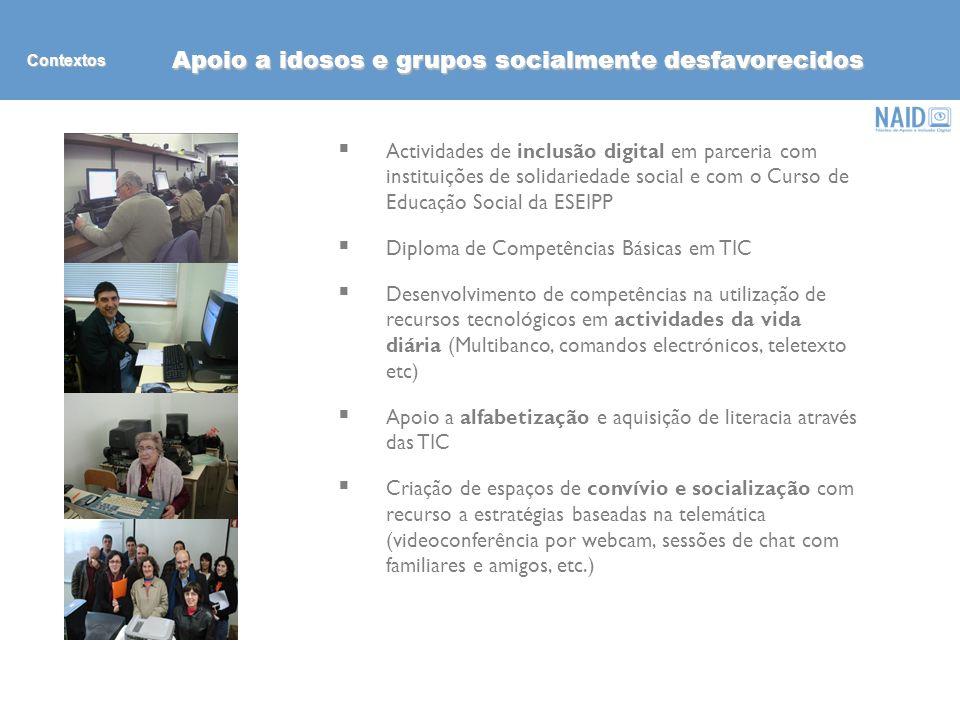 (in) formação Nucleo de Apoio a Inclusão Digital Rui Teles (Coordenação) José António Carneiro (Tiflotecnia) Escola Superior de Educação do IP Porto R.