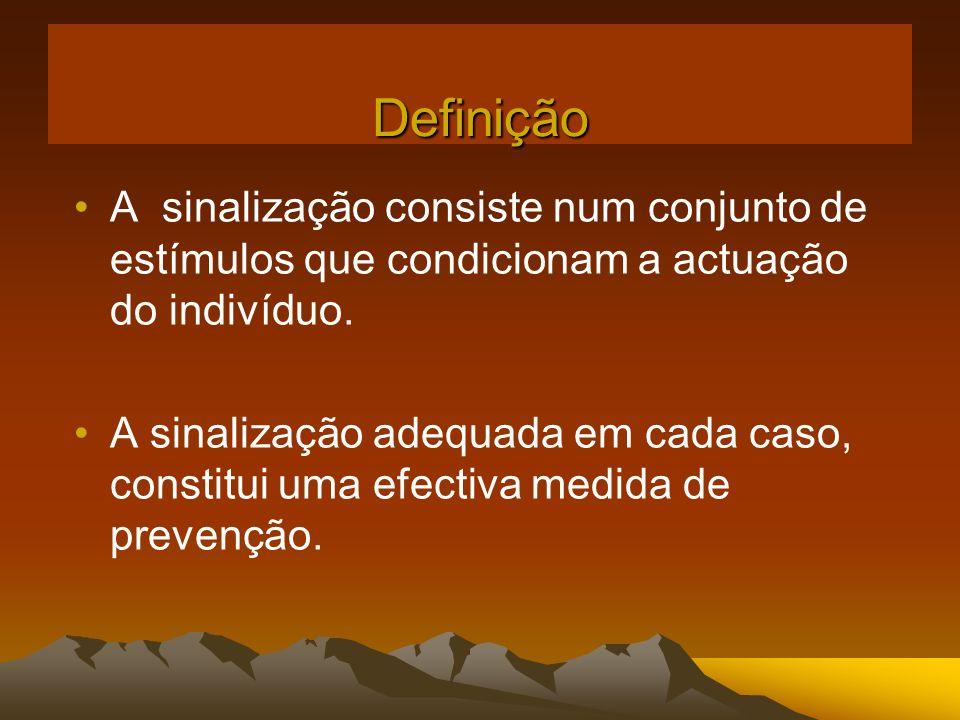 A sinalização consiste num conjunto de estímulos que condicionam a actuação do indivíduo. A sinalização adequada em cada caso, constitui uma efectiva