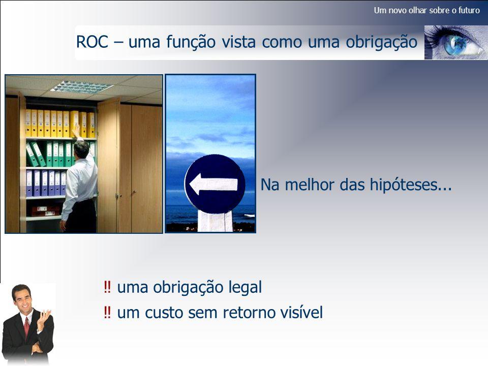 Um novo olhar sobre o futuro ROC – uma função vista como uma obrigação Na melhor das hipóteses... uma obrigação legal um custo sem retorno visível