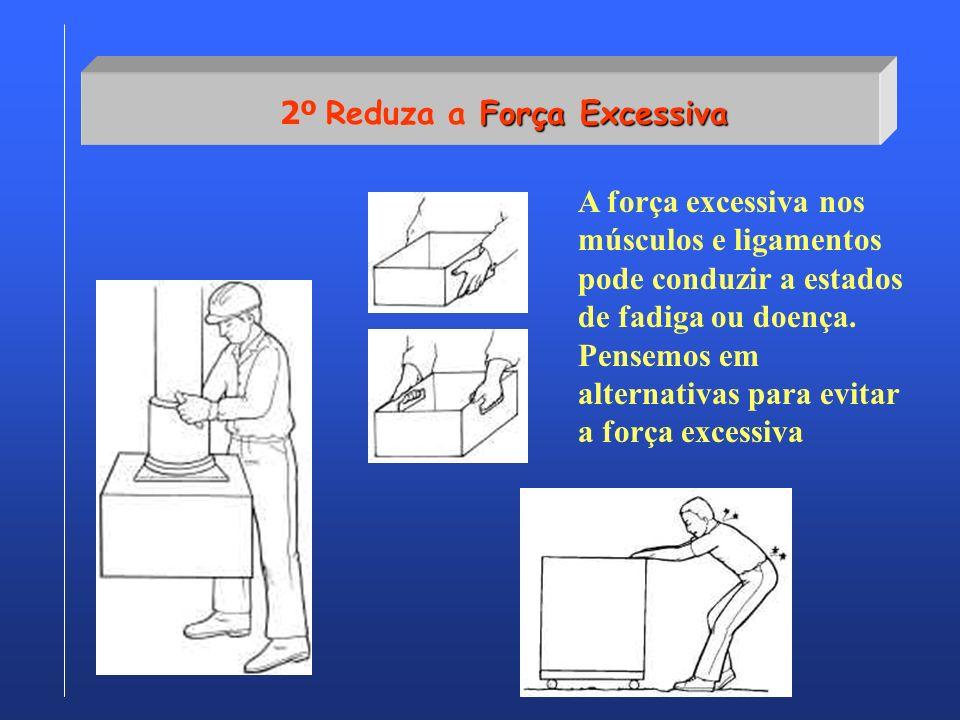 Força Excessiva 2º Reduza a Força Excessiva A força excessiva nos músculos e ligamentos pode conduzir a estados de fadiga ou doença. Pensemos em alter