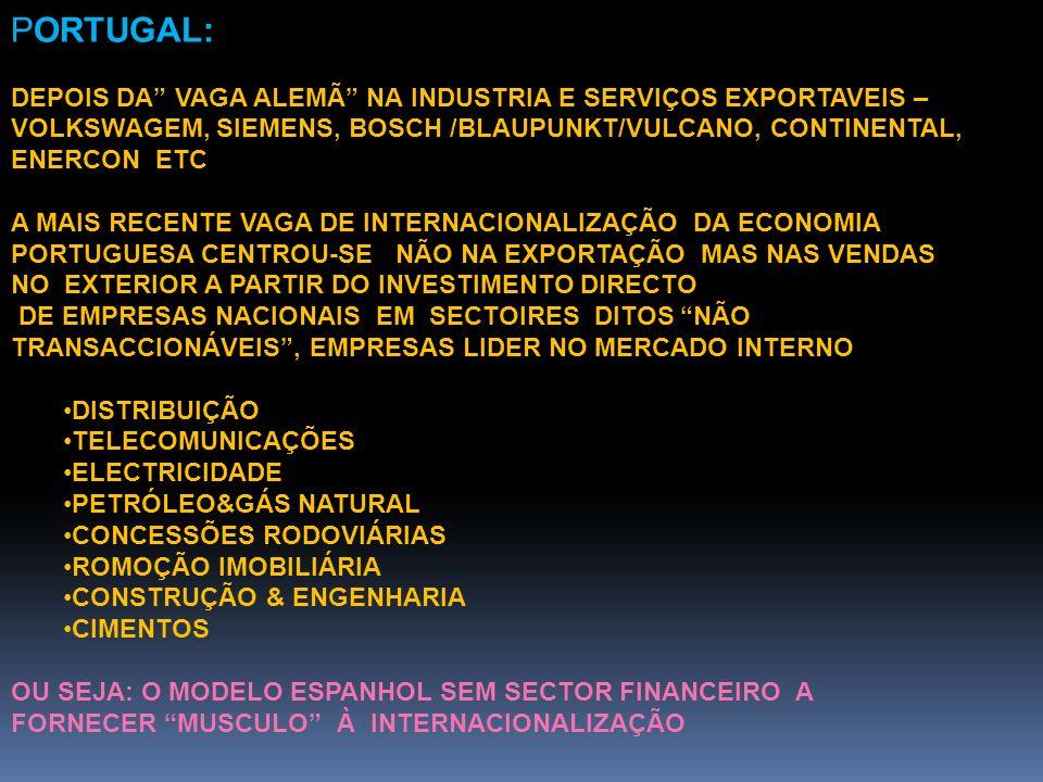 PORTUGAL: DEPOIS DA VAGA ALEMÃ NA INDUSTRIA E SERVIÇOS EXPORTAVEIS – VOLKSWAGEM, SIEMENS, BOSCH /BLAUPUNKT/VULCANO, CONTINENTAL, ENERCON ETC A MAIS RE