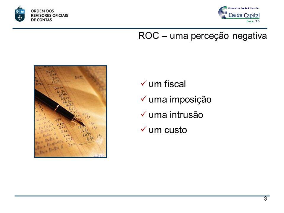 ROC – uma perceção negativa um fiscal uma imposição uma intrusão um custo 3