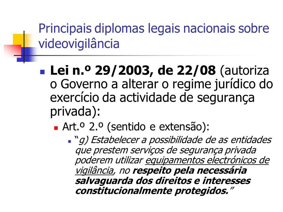 Princípios a observar (cf.