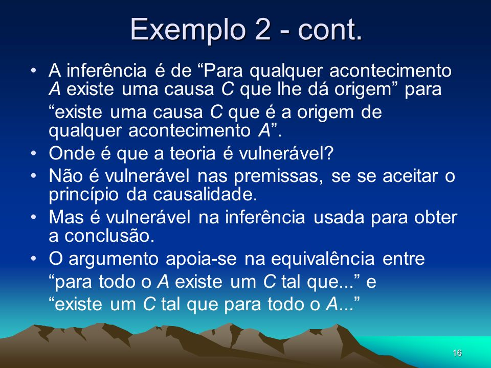 16 Exemplo 2 - cont.