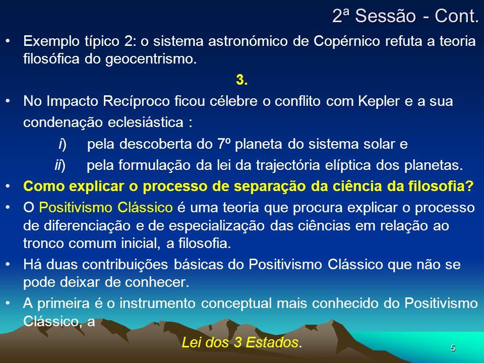 5 Exemplo típico 2: o sistema astronómico de Copérnico refuta a teoria filosófica do geocentrismo. 3. No Impacto Recíproco ficou célebre o conflito co