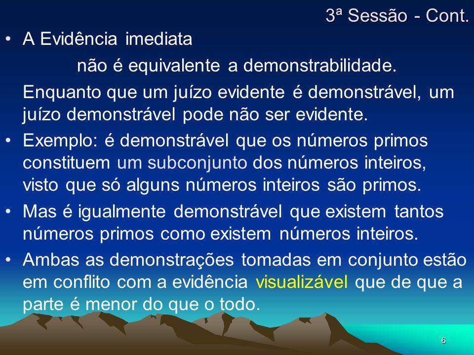 6 A Evidência imediata não é equivalente a demonstrabilidade.
