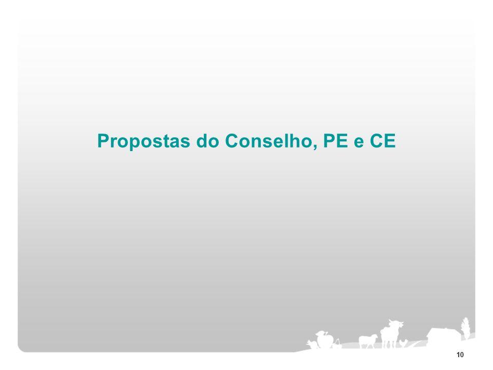 10 Propostas do Conselho, PE e CE