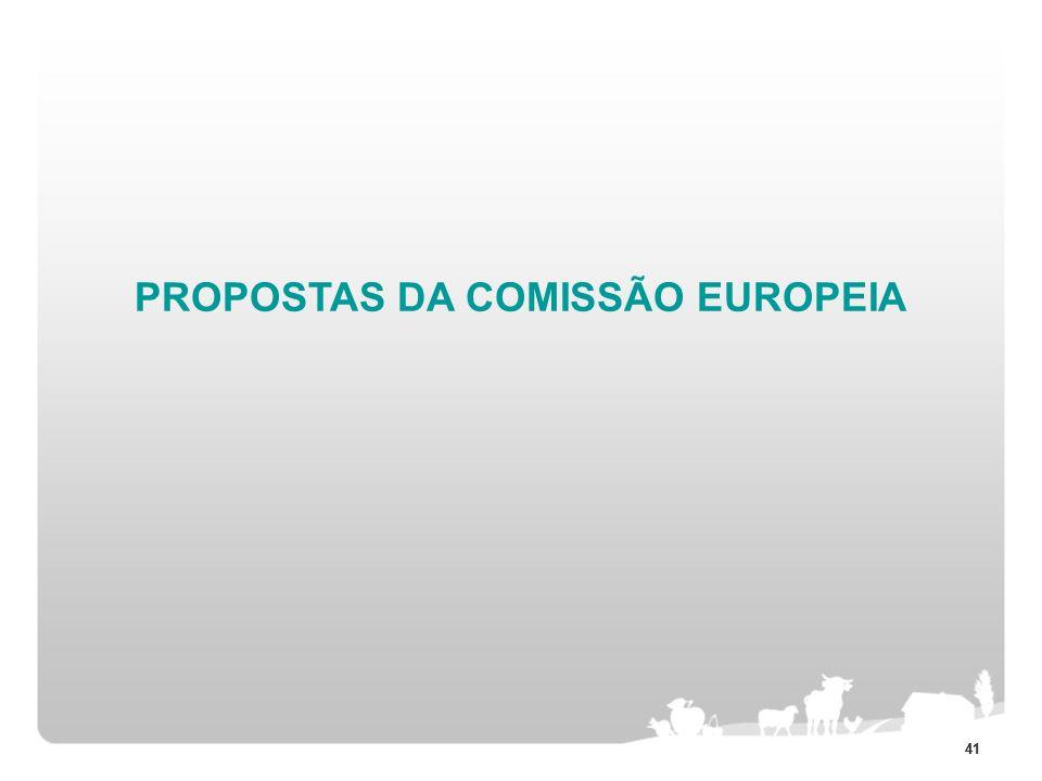 41 PROPOSTAS DA COMISSÃO EUROPEIA