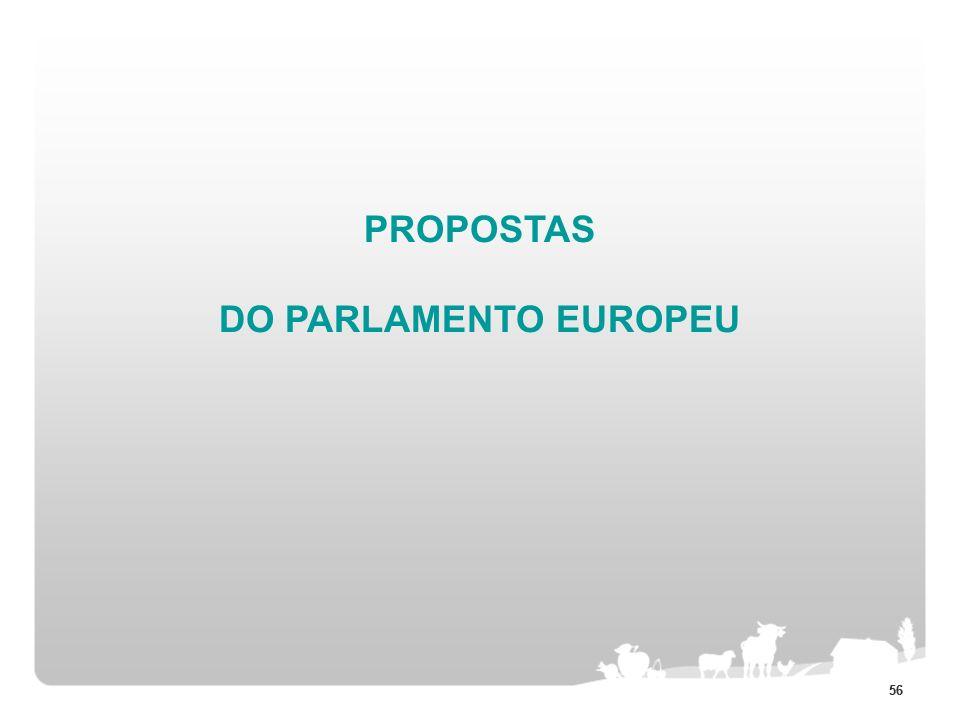 56 PROPOSTAS DO PARLAMENTO EUROPEU