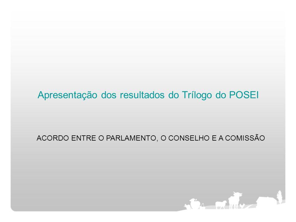 Apresentação dos resultados do Trílogo do POSEI ACORDO ENTRE O PARLAMENTO, O CONSELHO E A COMISSÃO