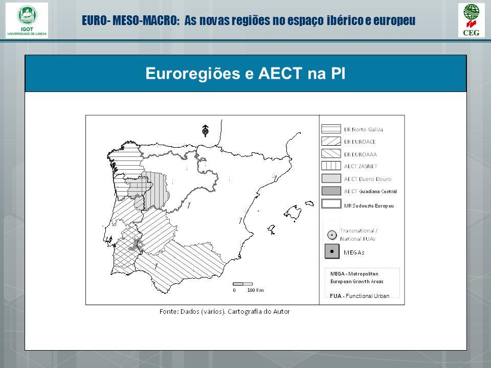 EURO- MESO-MACRO: As novas regiões no espaço ibérico e europeu Euroregiões e AECT na PI FUA - Functional Urban