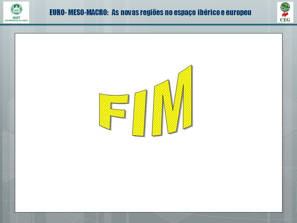 EURO- MESO-MACRO: As novas regiões no espaço ibérico e europeu