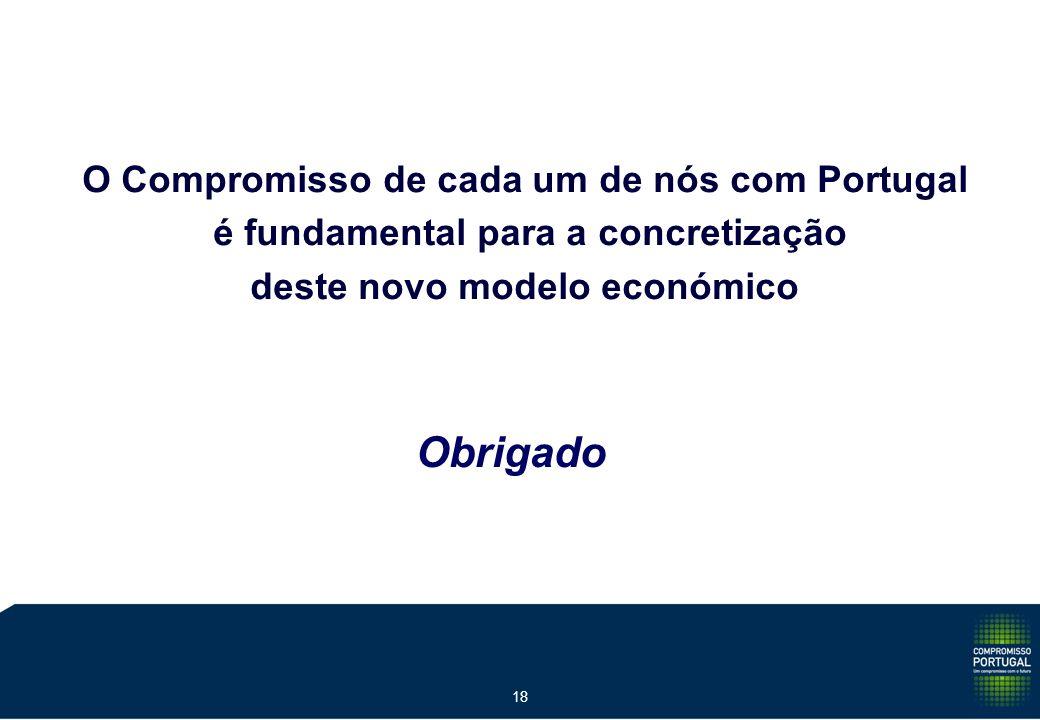 18 Obrigado O Compromisso de cada um de nós com Portugal é fundamental para a concretização deste novo modelo económico
