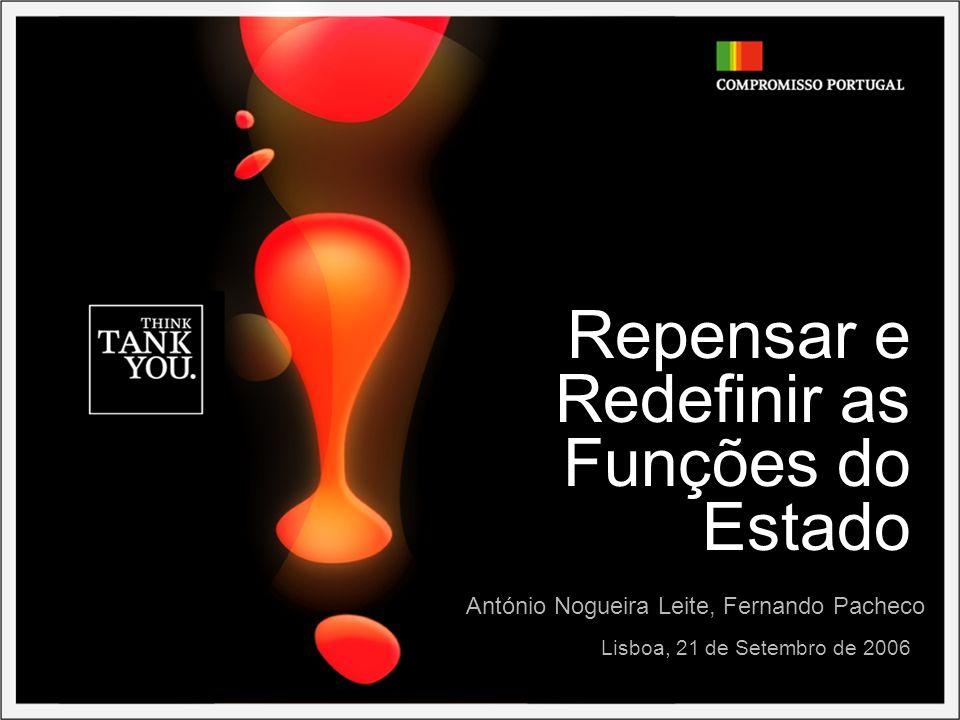 Repensar e Redefinir as Funções do Estado Lisboa, 21 de Setembro de 2006 António Nogueira Leite, Fernando Pacheco