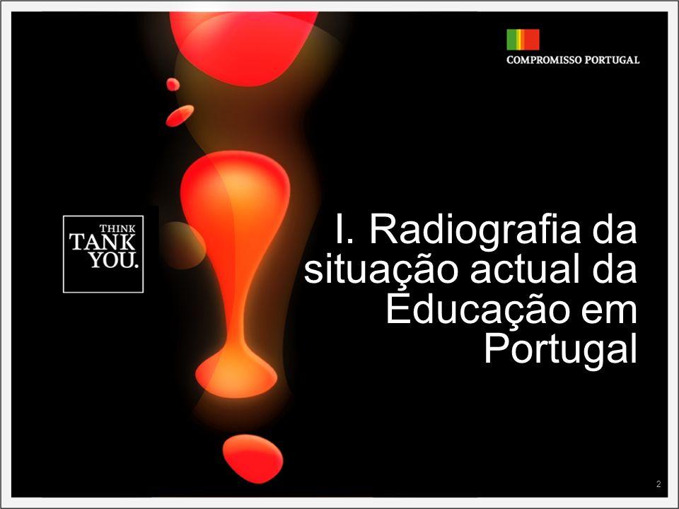 2 I. Radiografia da situação actual da Educação em Portugal