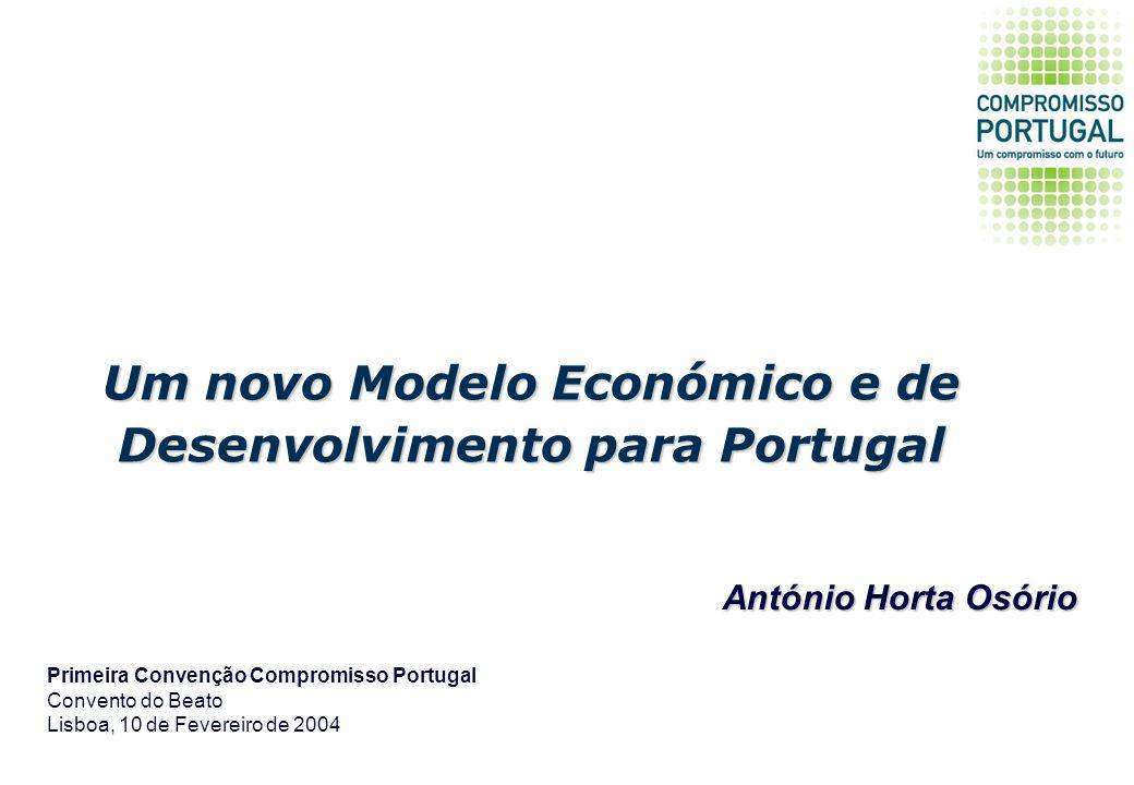 Um novo Modelo Económico e de Desenvolvimento para Portugal Primeira Convenção Compromisso Portugal Convento do Beato Lisboa, 10 de Fevereiro de 2004 António Horta Osório