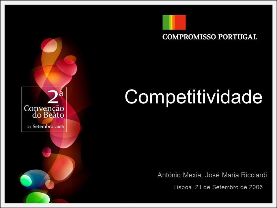Competitividade Lisboa, 21 de Setembro de 2006 António Mexia, José Maria Ricciardi