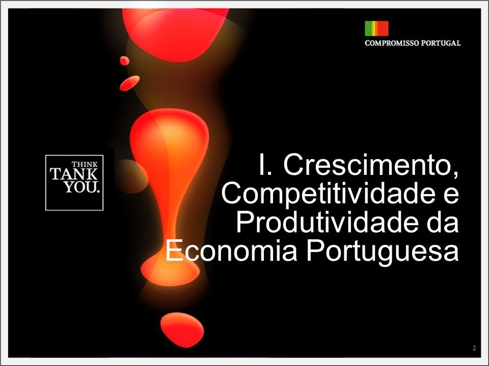 2 I. Crescimento, Competitividade e Produtividade da Economia Portuguesa