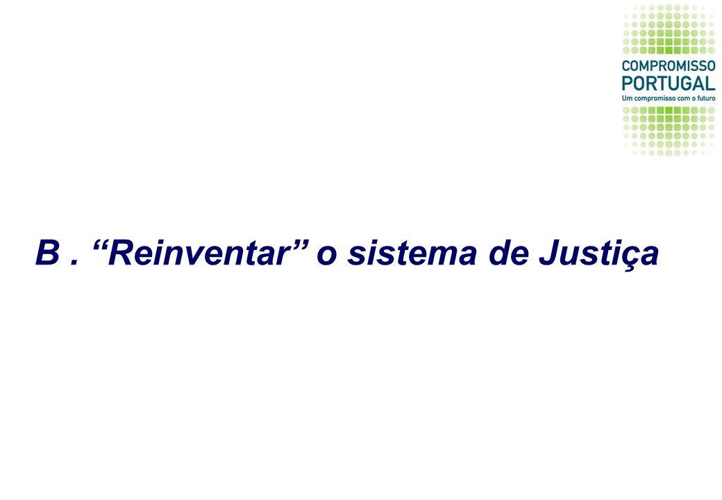 B. Reinventar o sistema de Justiça
