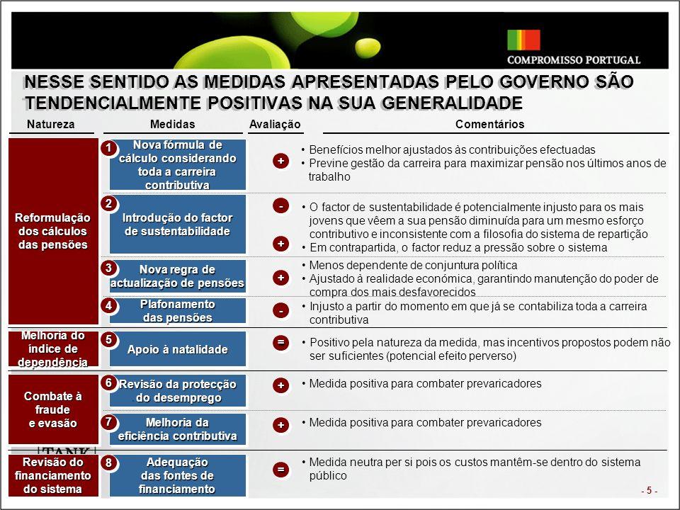 - 6 - NO ENTANTO AS MEDIDAS APRESENTADAS PELO GOVERNO APENAS ADIAM A RUPTURA DO SISTEMA...