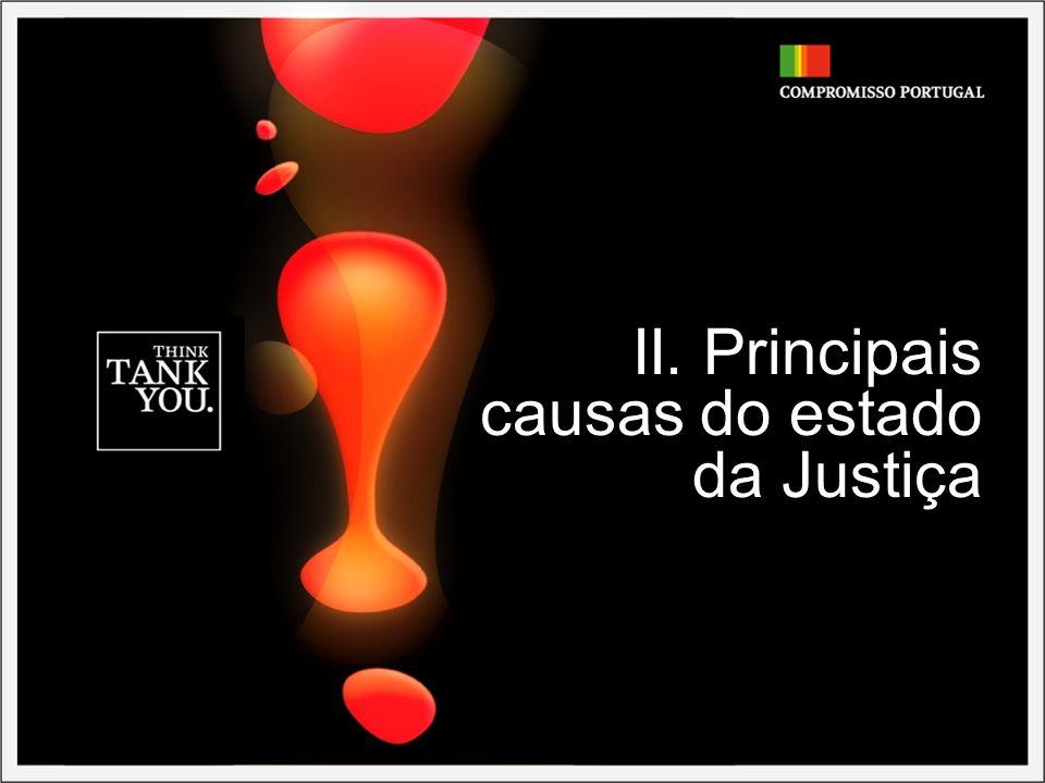 - 9 - PRINCIPAIS CAUSAS DO ESTADO DA JUSTIÇA EM PORTUGAL Demasiados processos a entrarem no sistema......