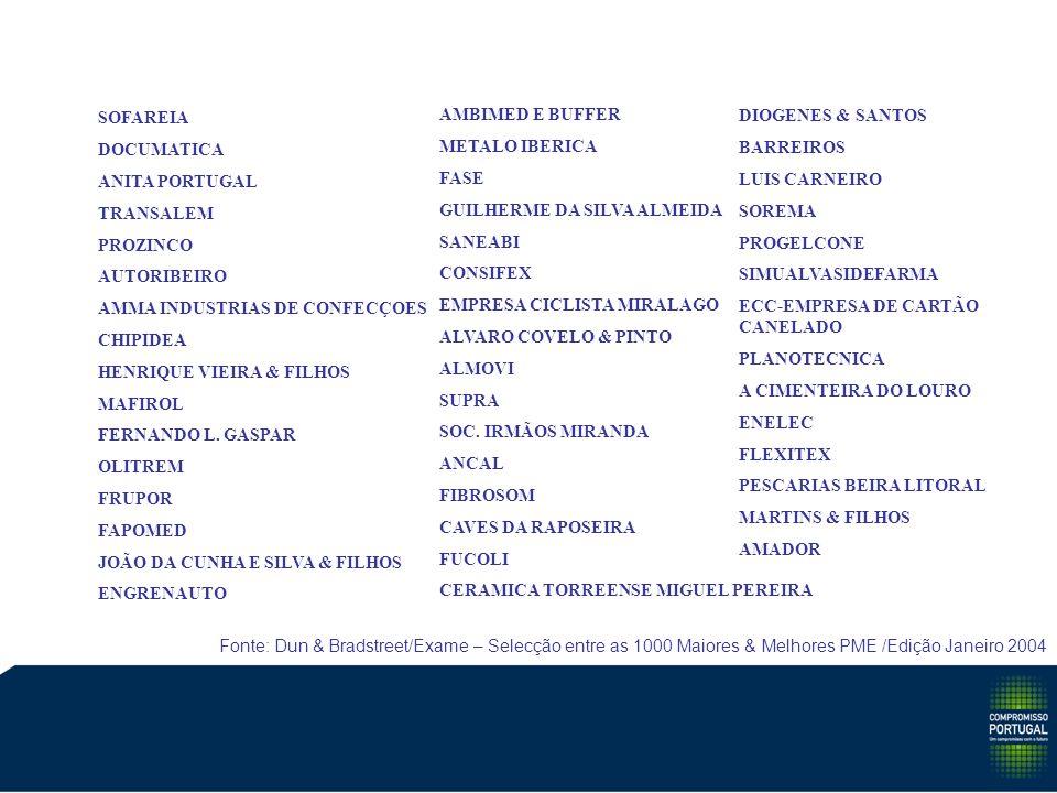 SOFAREIA DOCUMATICA ANITA PORTUGAL TRANSALEM PROZINCO AUTORIBEIRO AMMA INDUSTRIAS DE CONFECÇOES CHIPIDEA HENRIQUE VIEIRA & FILHOS MAFIROL FERNANDO L.