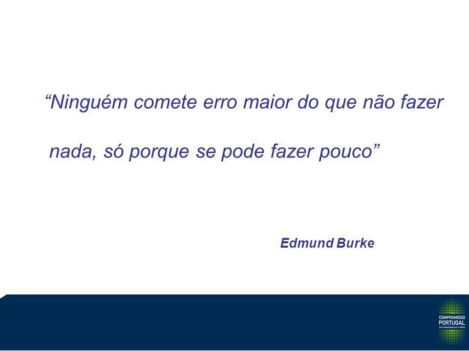 Ninguém comete erro maior do que não fazer nada, só porque se pode fazer pouco Edmund Burke