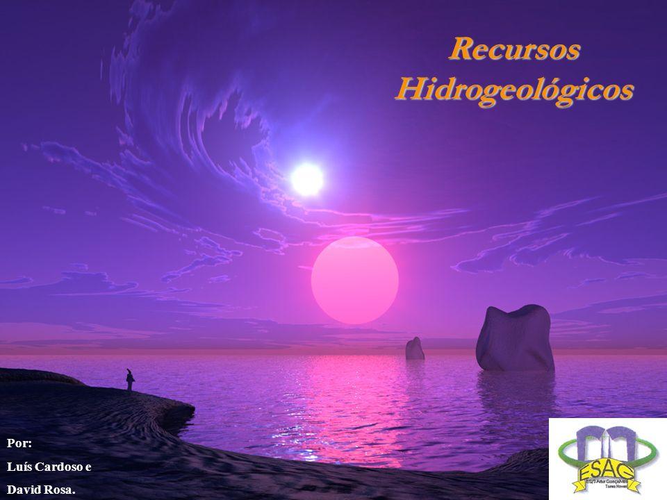 Recursos Hidrogeológicos Por: Luís Cardoso e David Rosa.