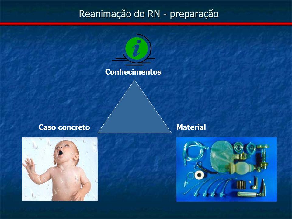 Reanimação do RN – A - aspiração, mecónio Aspirar 1º boca, 2º nariz.
