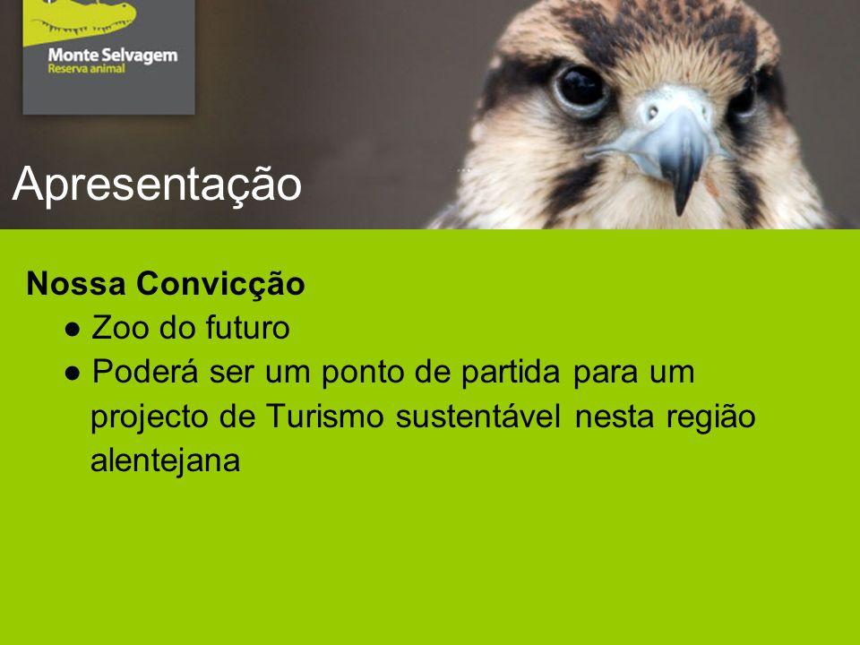 Apresentação Nossa Convicção Zoo do futuro Poderá ser um ponto de partida para um projecto de Turismo sustentável nesta região alentejana