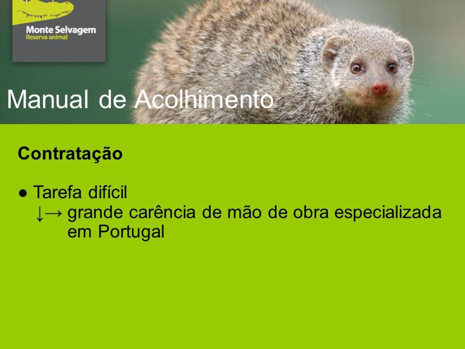 Manual de Acolhimento Contratação Tarefa difícil grande carência de mão de obra especializada em Portugal