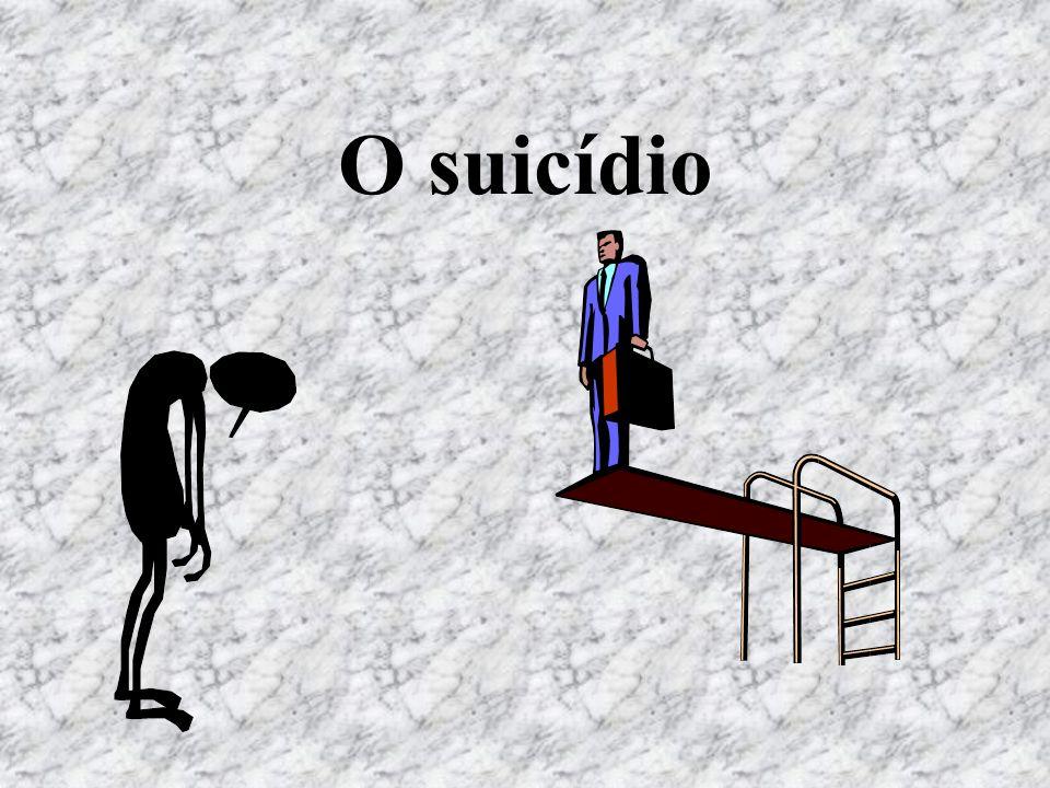 Definição É um acto de autodestruição, cometido conscientemente, com resultado fatal.