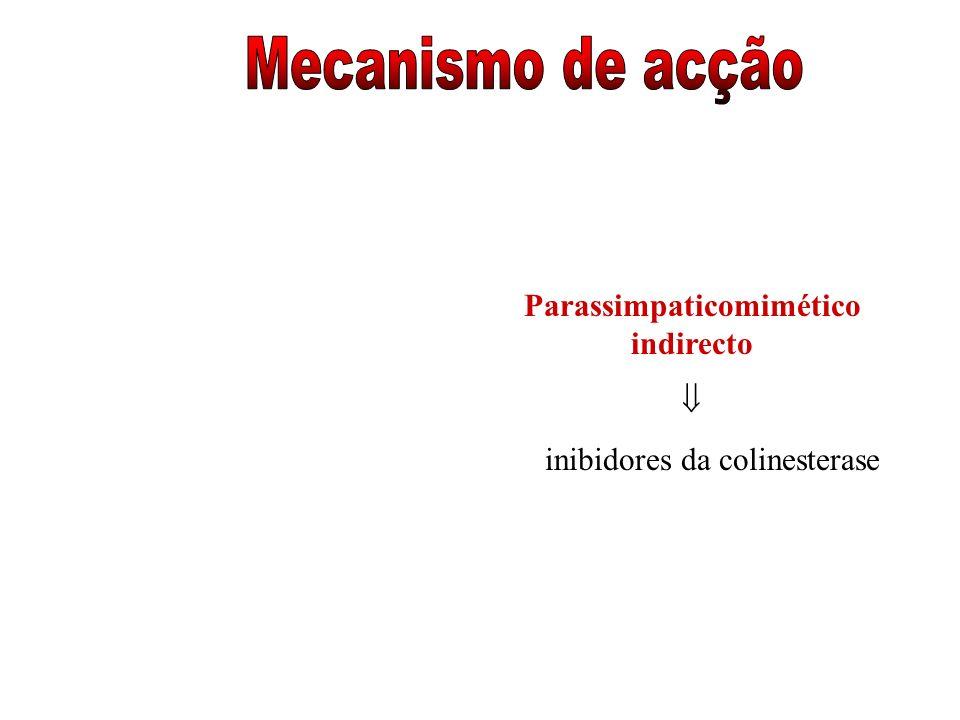 Parassimpaticomimético indirecto inibidores da colinesterase