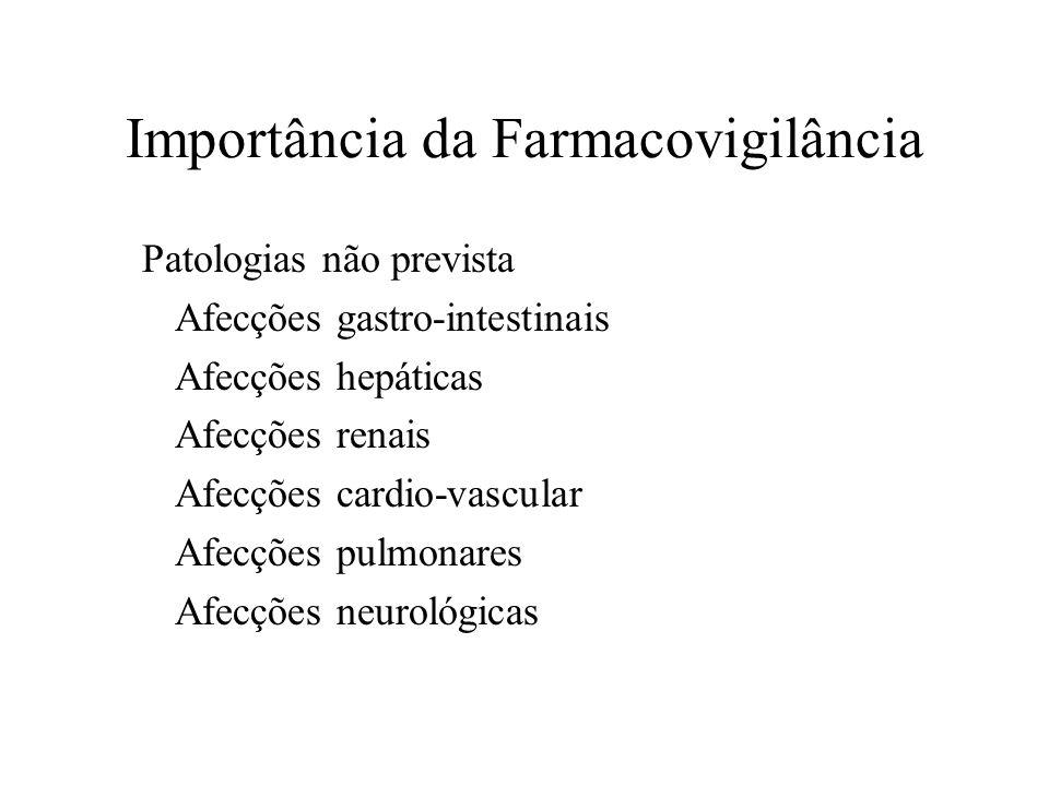 Patologias não prevista Afecções gastro-intestinais Afecções hepáticas Afecções renais Afecções cardio-vascular Afecções pulmonares Afecções neurológi