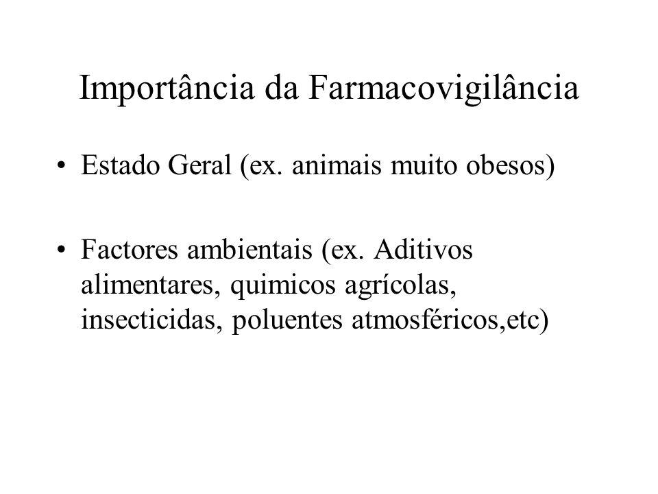 Estado Geral (ex. animais muito obesos) Factores ambientais (ex. Aditivos alimentares, quimicos agrícolas, insecticidas, poluentes atmosféricos,etc) I