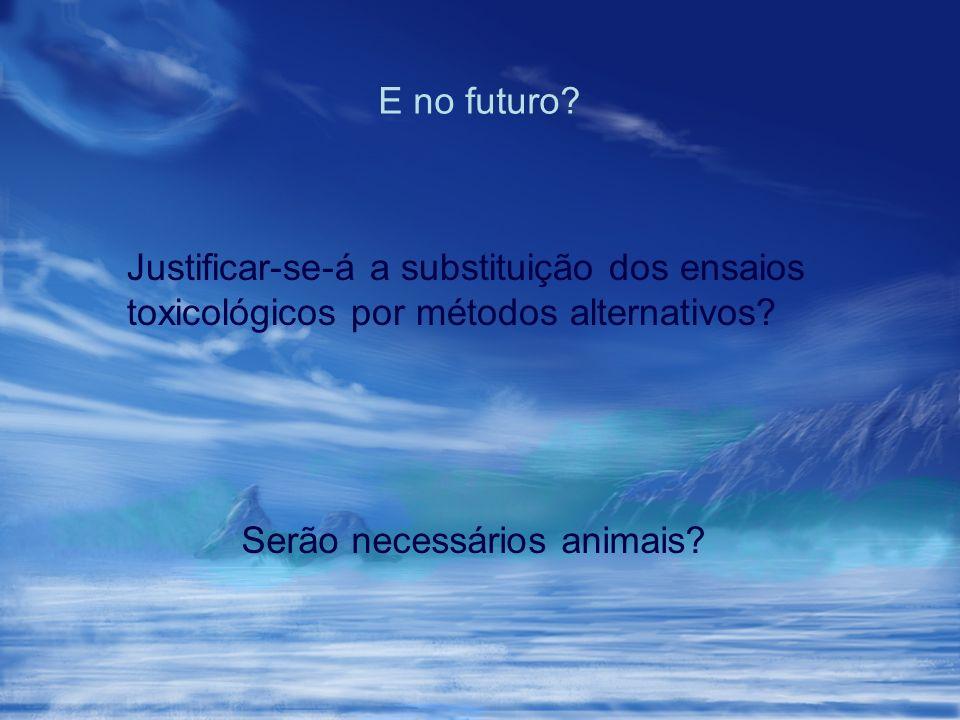 Serão necessários animais? E no futuro? Justificar-se-á a substituição dos ensaios toxicológicos por métodos alternativos?