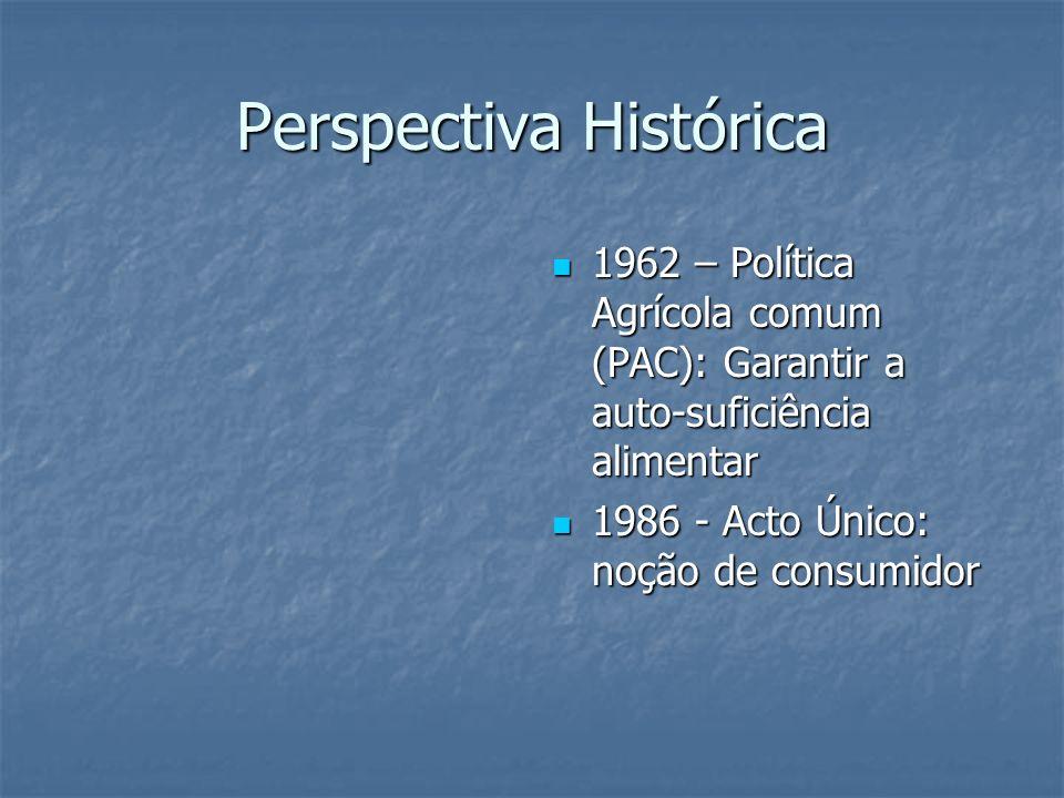 Perspectiva Histórica 1962 – Política Agrícola comum (PAC): Garantir a auto-suficiência alimentar 1962 – Política Agrícola comum (PAC): Garantir a aut