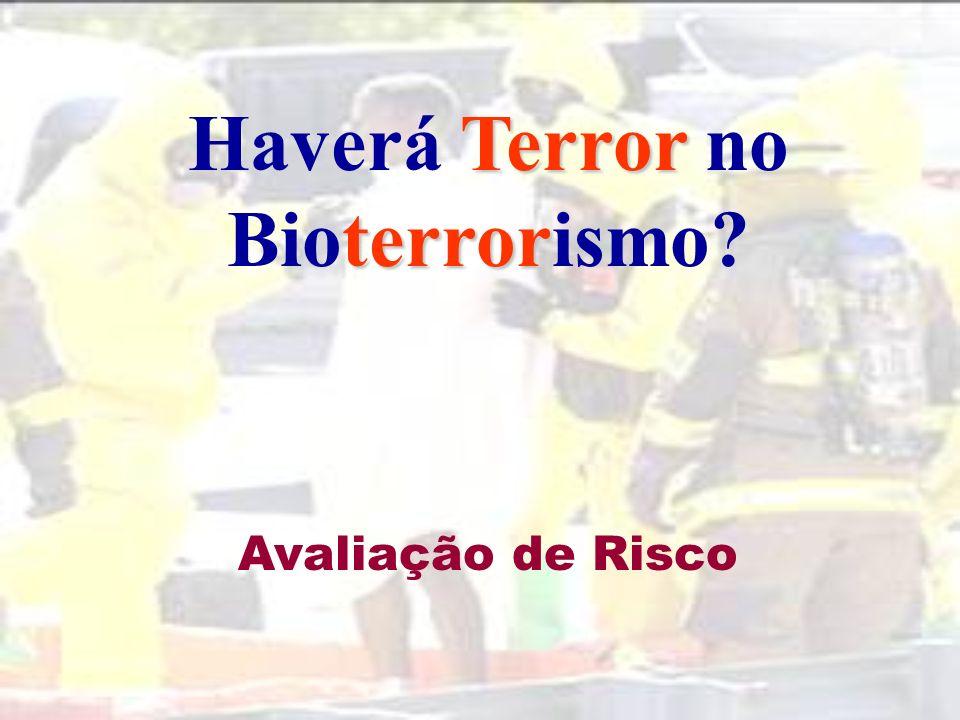 Dados sobre ataques com agentes biológicos (Fonte:CDC) Em 40 anos (1960-1999) registaram-se 66 casos de crime e 55 de terrorismo.
