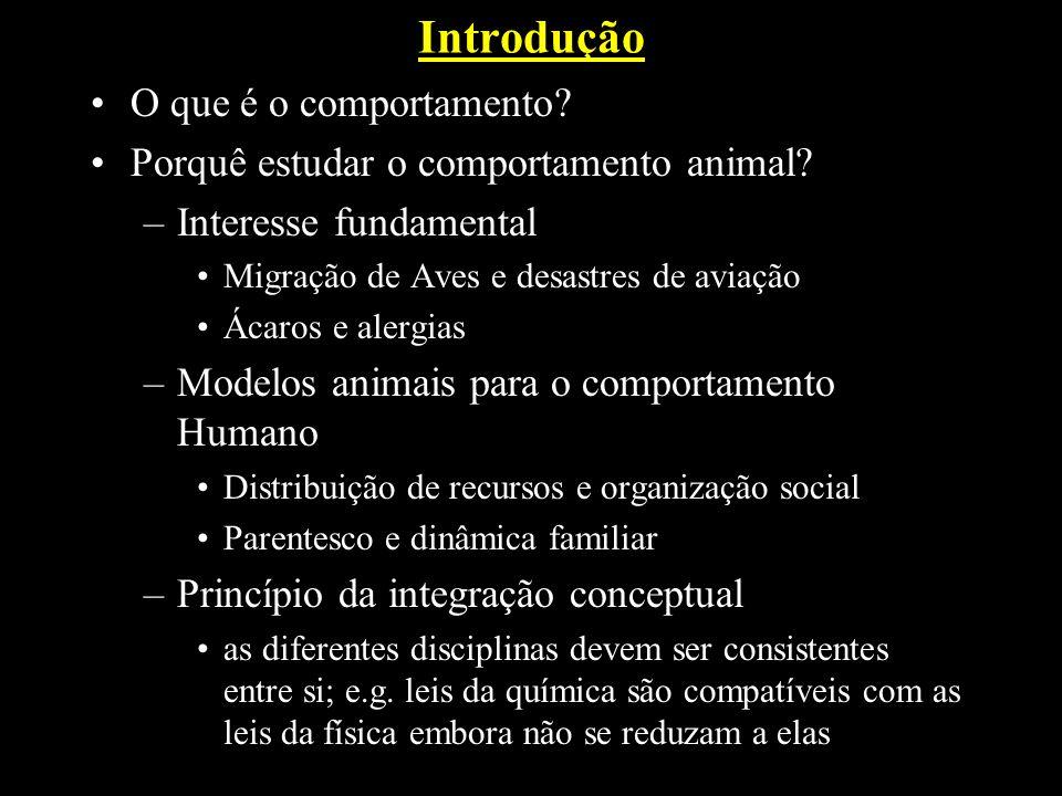 Introdução O que é o comportamento.Porquê estudar o comportamento animal.