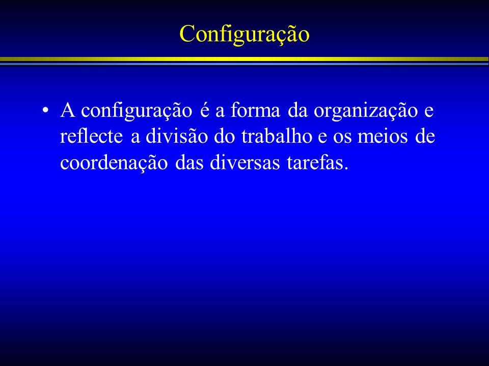 Estrutura e Operações Centralização –A política de concentração da tomada de decisão e detenção da autoridade no topo da hierarquia.