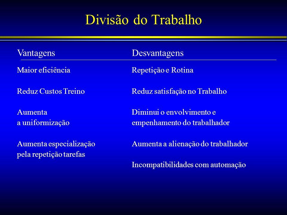 Coordenação de Tarefas O três mecanismos de coordenação são: –Departamentalização –Âmbito de Controlo –Hierarquia Administrativa