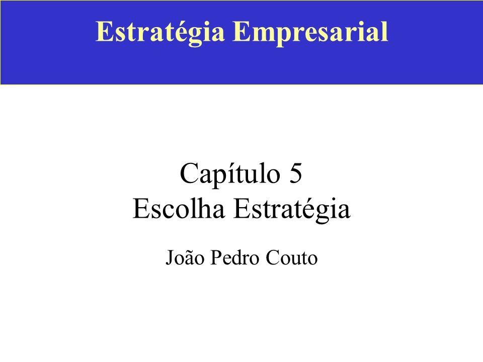 Estratégia Empresarial Capítulo 5 Escolha Estratégia João Pedro Couto