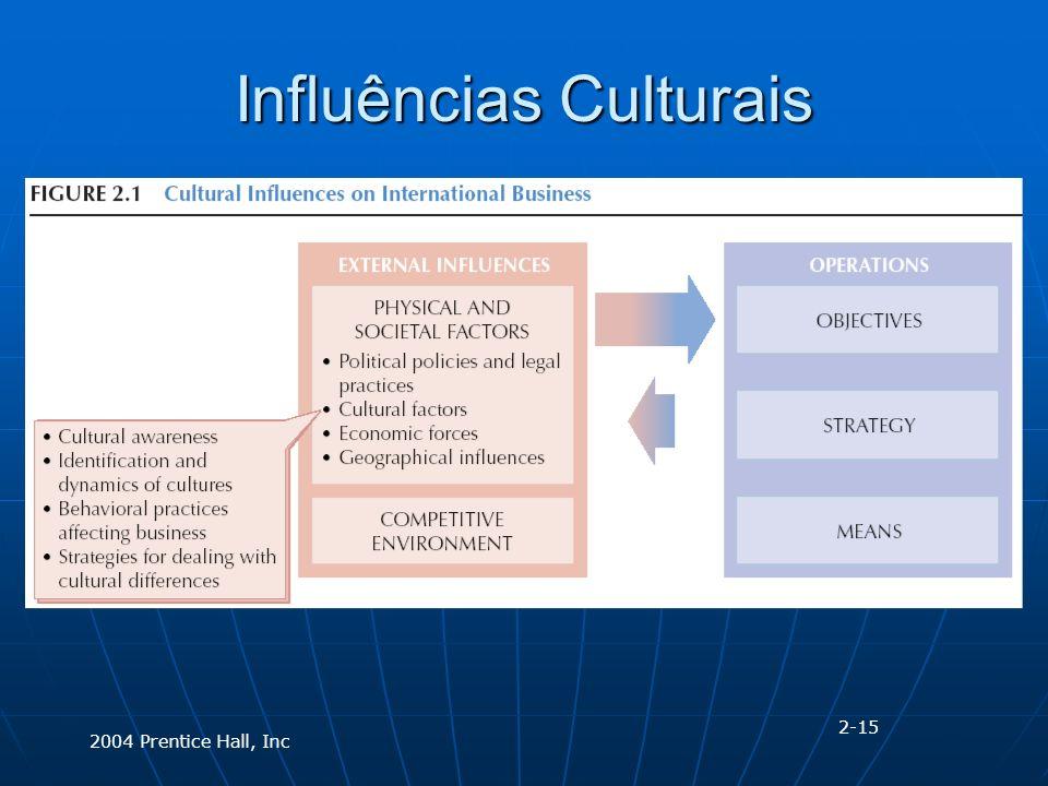 2004 Prentice Hall, Inc Influências Culturais 2-15