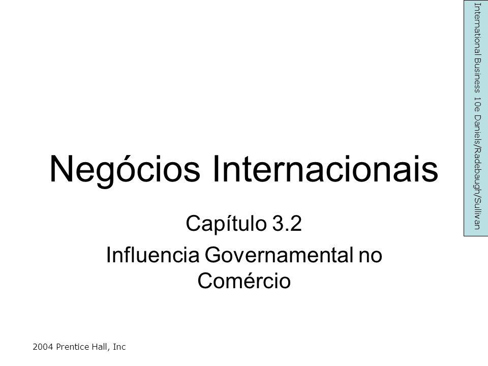 Razões não Económicas Manutenção industrias nacionais essenciais Impedir a venda a determinados países Manter a esfera de influência nacional Preservar a identidade nacional